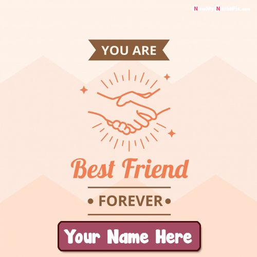 New best wishing friendship pictures with your name writing