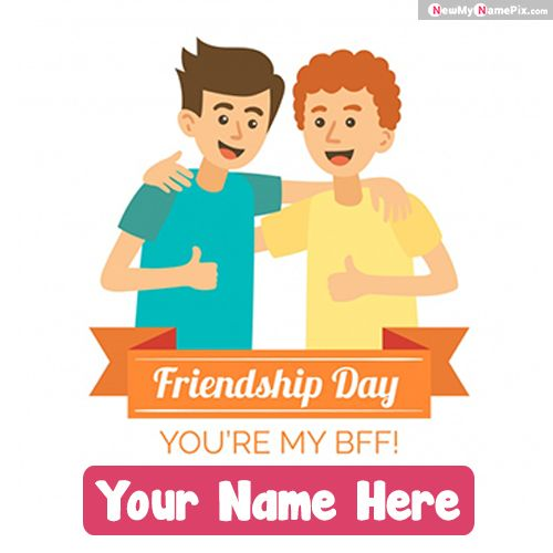 Best collection Customized name write happy friendship day pic