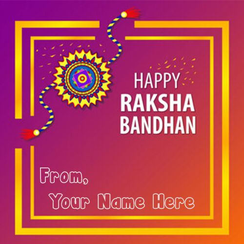 Personalized name greeting card send for sister wishes raksha bandhan image