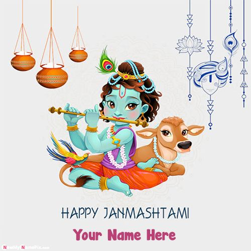 My name pix happy janmashtami bal krishna pictures download
