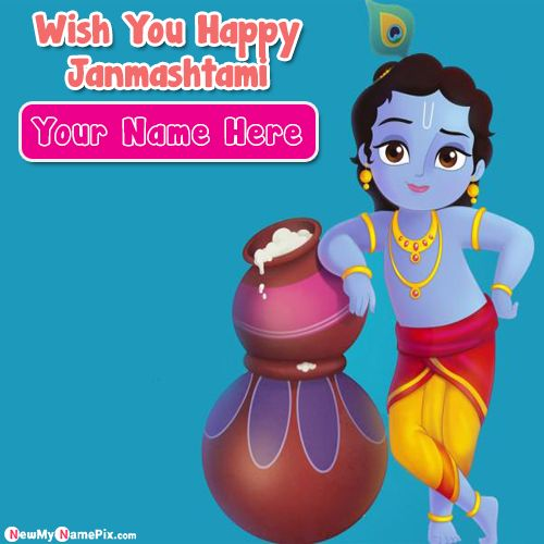 Happy janmashtami wishes pictures on name write whatsapp status