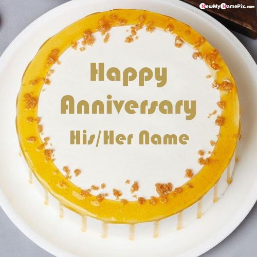 Anniversary Wishes Cake With Name Write Picture Download