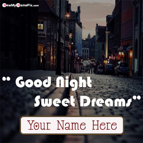 Write Name On Good Night Wishes Image Card Create