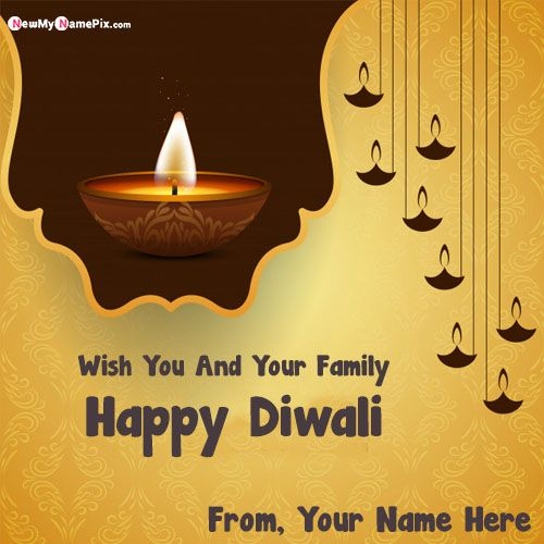 Write Name On Happy Diwali Wishes Images Create Online Free