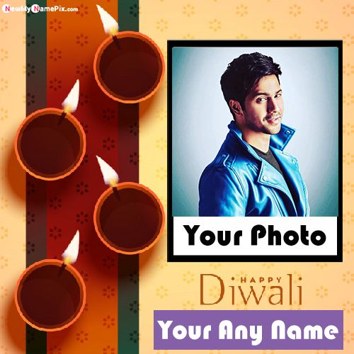 Latest Happy Diwali Photo Frame Wishes Images With Name