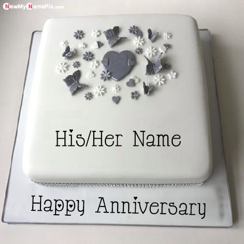 Anniversary Wishes Special Cake Image With Name