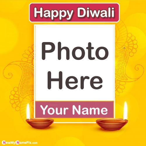 Diwali 2020 Amazing Photo Frame Wishes Name Card Download
