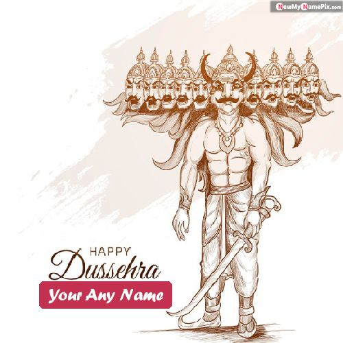 Happy Dussehra Wishes Image With Name 2020 Card