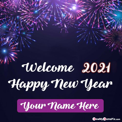 Welcome 2021 New Year Wishes Photo Frame Download