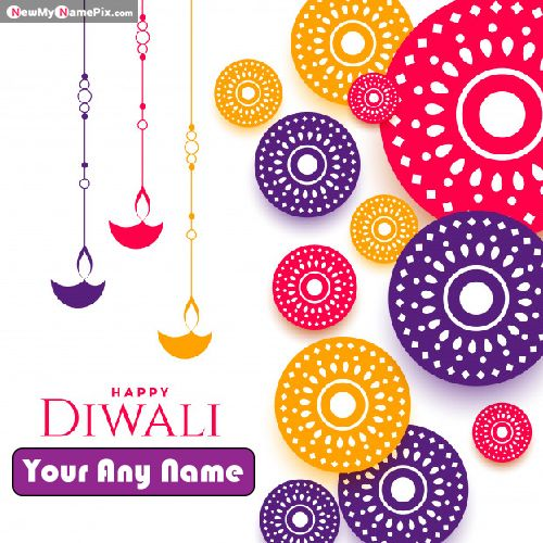 Make Your Name On Diwali Greeting Card Images Download