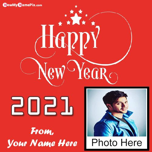 Happy New Year 2021 Images With Name Photo Frame