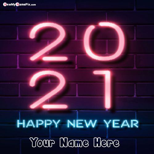 Welcome 2021 Wishes Images With Name Card Download Free