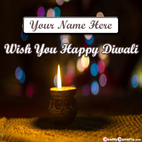 Diwali Beautiful Blessing Message Wishes Image With Name
