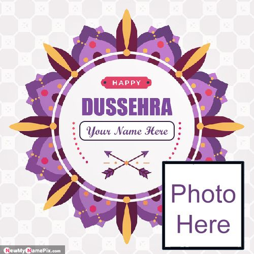 Festival Dussehra Photo Frame Profile With Name