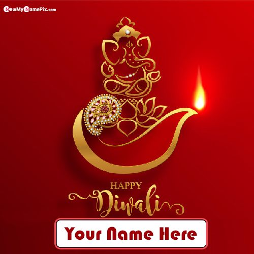 Create Personalized Name Writing Happy Diwali Celebration Pics