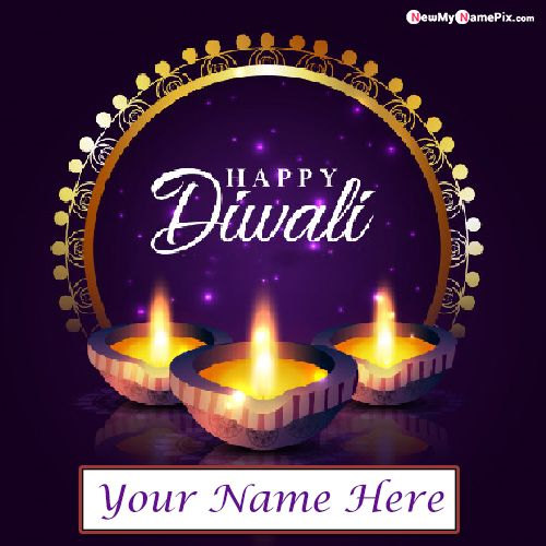 New Happy Diwali Unique Pictures On Name Write