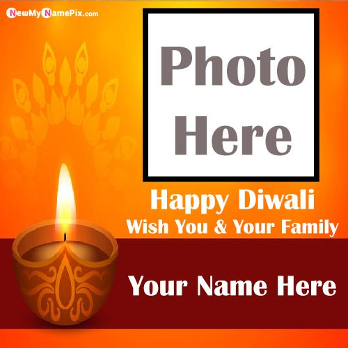 Beautiful Photo Frame Diwali Quotes Wishes Images Download