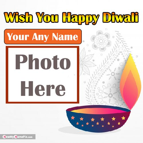 Name With Photo Frame Wishes 2020 Happy Diwali Pic