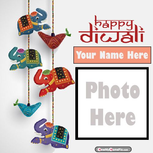 My Name With Photo Generate Diwali Celebration Card