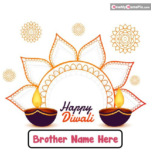 Wish You Happy Diwali Brother Name Write Images