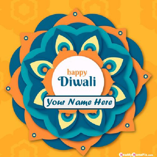 Diwali Wishes Sister Name Write Greeting Card Images