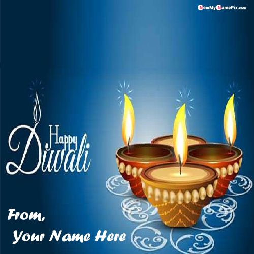 Happy Diwali Images With Mom And Dad Wishes Name Card