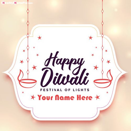 Happy Diwali Name Write Greeting Images Create Online