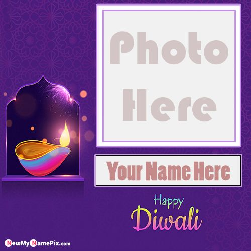 Happy Diwali Wishes Photo Frame And Name Write
