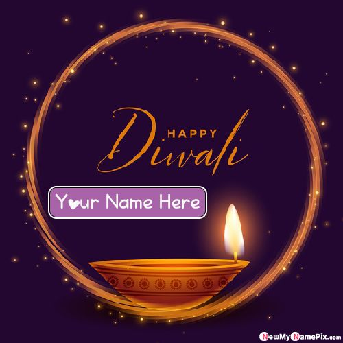 Diwali Name Wishes Create Card Online Edit