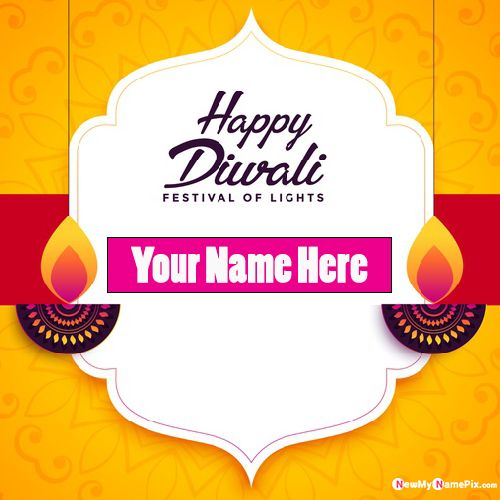 Festival of Light Diwali Wishes Photo With Name