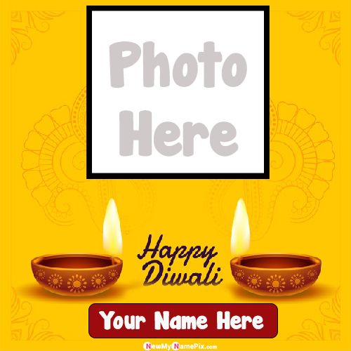 Happy Diwali Frame Photo And Name Write Images