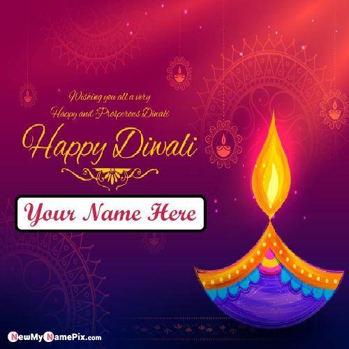 Latest Happy Diwali Images Edit Name Wishes Create