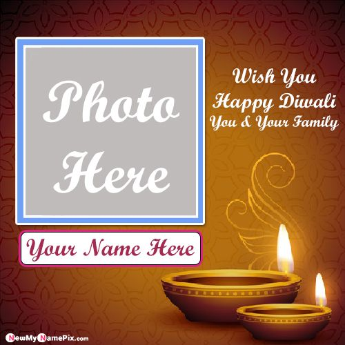 Photo Frame Diwali Wishes Images With Name Create Card