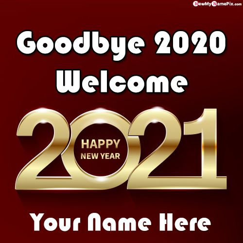 Write Name On Bye Bye 2020 Greeting Card Images Create