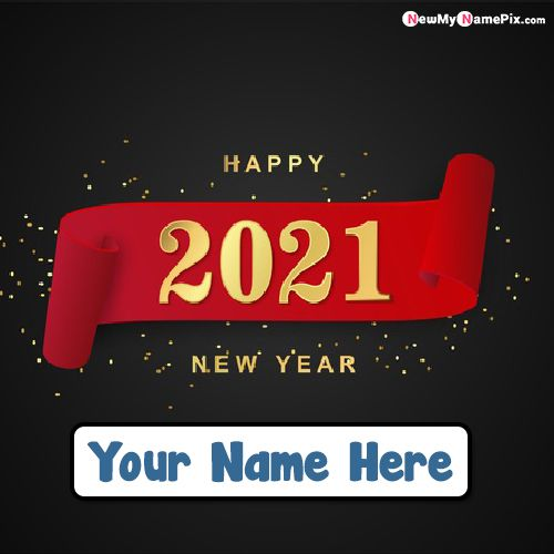 Design 2021 Happy New Year Photo With Name Wishes Card